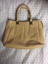 Luxurious TOD's Ladies Leather Handbag/ Grab Bag. Camel Colour-size M