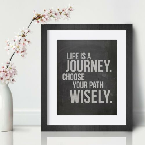 Journey Inspirational Wall Art Print Motivational Quote Poster Decor Gift for