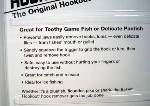 Baker Original Hookout Zinc Fishing Fish Hook Remover Catch /& Release Tool