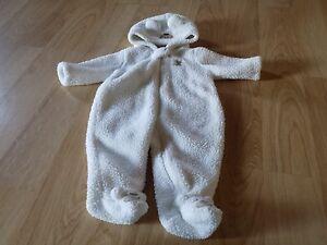 b8d744a16470 Infant Size 3 Months Carter s Snowsuit Snow Suit Hooded Pram White ...
