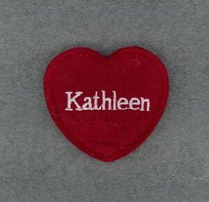 KATHLEEN Red Felt Heart Ornament Valentine's Day + Christmas + Crafts + Gift Tag