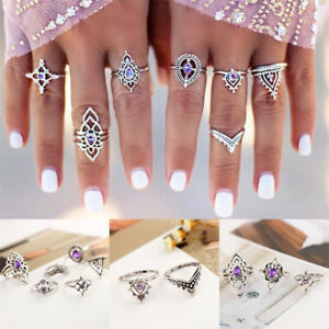 7Pcs-Set-Boho-Vintage-Silver-Amethyst-Crystal-Knuckle-Ring-Women-Fashion-Jewelry