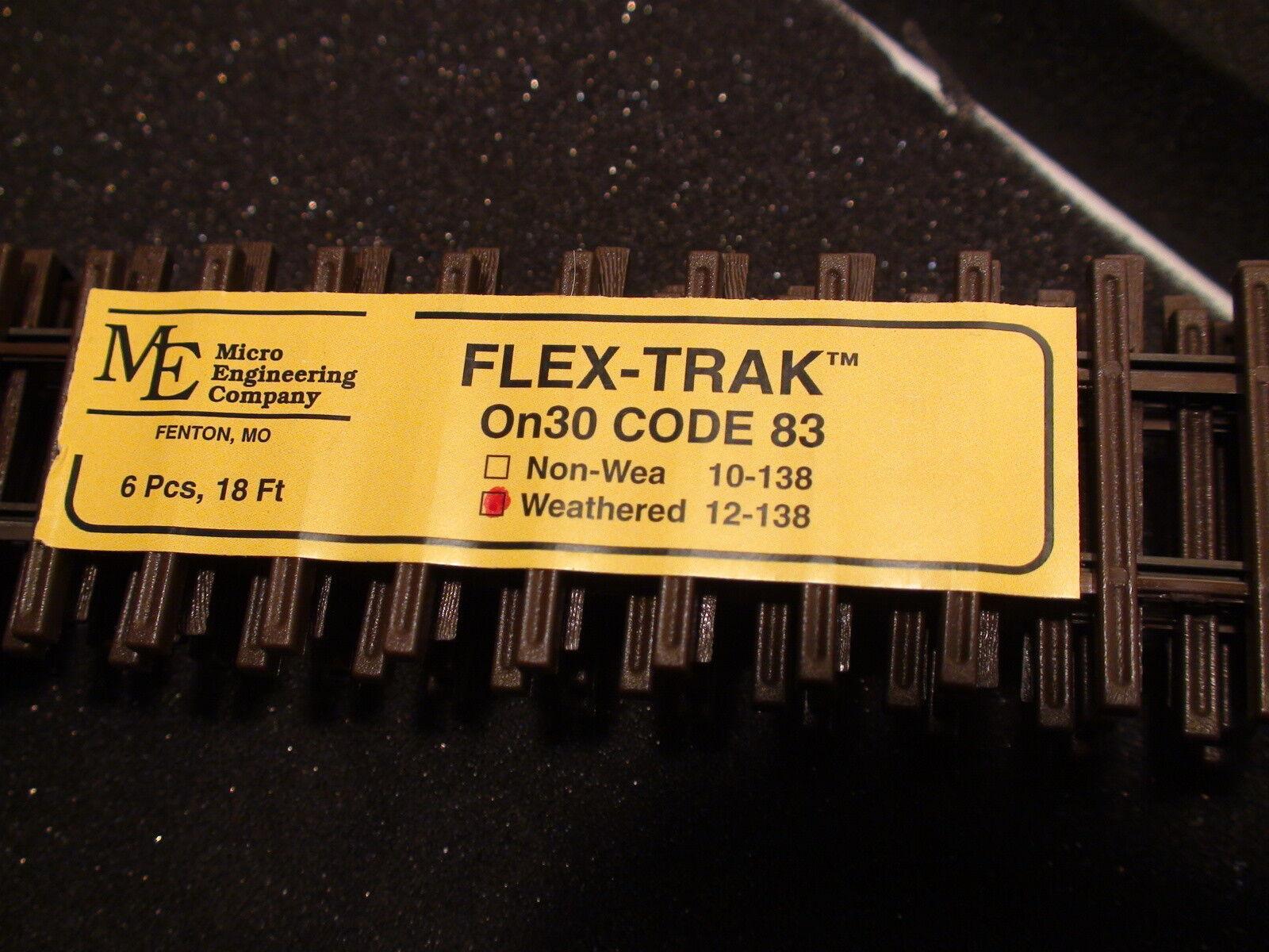 Micro- Engineering On30 12-138 , 6 PCS, 18 FEET (ON 2 1/2  WEATHERED CODE 83