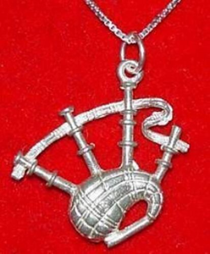 Sterling Silver .925 BAGPIPE Pendant Charm BAGPIPER Jewelry