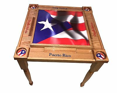 Puerto Rico Flag Domino Table With The W Full Flag Mvp 687077971374 Ebay