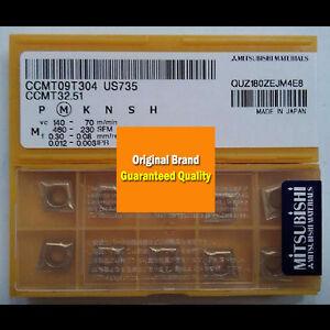 50Pcs MITSUBISHI CCMT32.52 US735 CCMT09T308 US735 NEW carbide inserts