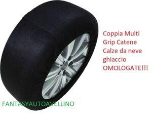 Coppia Multi Grip Catene Calze da neve ghiaccio MISURA L  255//30-19