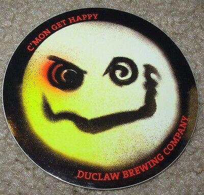 DU CLAW BREWING CMon Get Happy Logo STICKER decal craft beer brewery