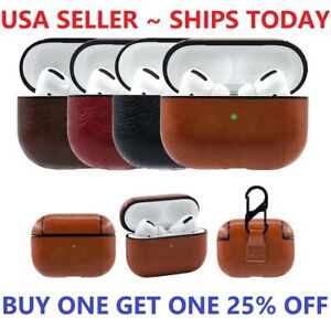 For AirPods Pro Case Protective Leather Holder Bag Case Cover For Apple Airpod