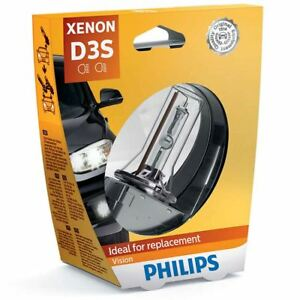 philips vision d3s hid car headlight xenon bulb 42v 35w 42403vis1 single 4400k ebay. Black Bedroom Furniture Sets. Home Design Ideas