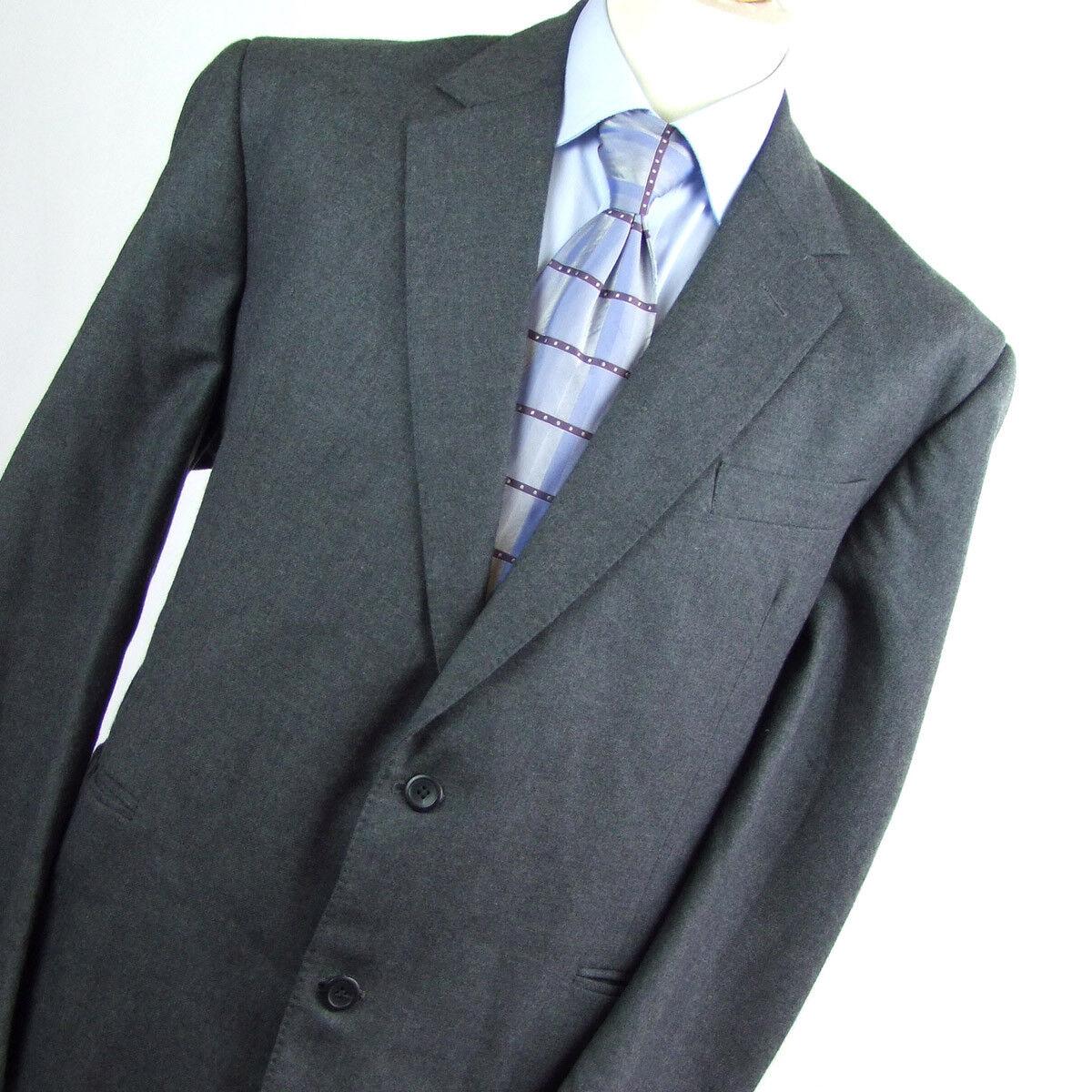 Barney Goodman  Herren Grau Suit 44/40 Regular Single Breasted Wool Plain