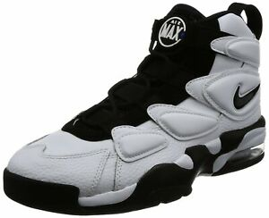 Details about Nike Air Max2 Uptempo 94 White Black Basketball Shoes Men's 10
