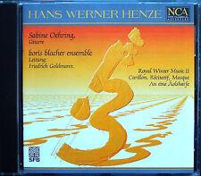 Hans Werner HENZE Royal Winter Music Carillon An eine Äolsharfe CD Oehring