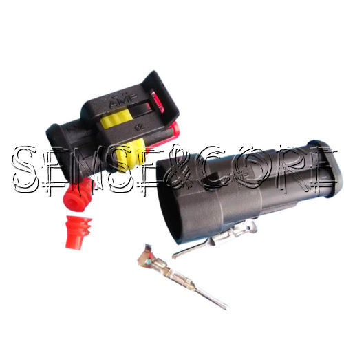 1 Set Car Superseal Waterproof Electrical Terminal Wire Connector 1//3//4 Way Pin