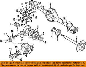 suzuki oem 02 06 xl 7 eje trasero sellos 4359252d00 ebay rh ebay com suzuki jimny rear axle diagram 2004 suzuki xl7 rear axle diagram
