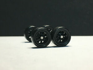 HOT WHEELS MATCHBOX 1//64 REAL RIDERS WHEELS RUBBER TIRES WHEELS 10+12MM 5 SETS