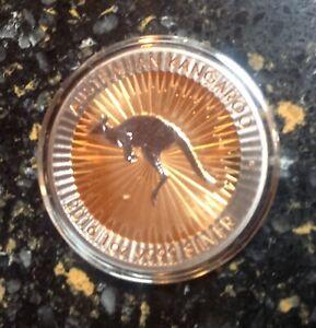 Australia-2016-GOLD-SHADOWS-Black-Ruthenium-Kangaroo-1oz-Gilded-2Kt-Silver-Coin