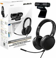 AVerMedia Video and Audio Conferencing Kit 1080p Webcam USB 2.0 Headset with Microphone