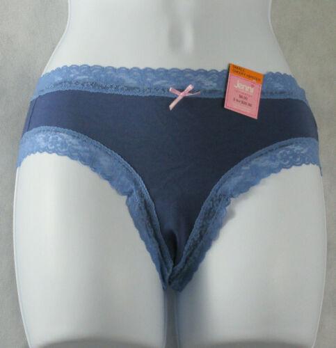Jenni by Jennifer Moore Women/'s Cheeky Lace-Trim Hipster Panty Sailor Blue