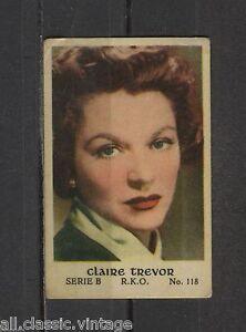 Claire Trevor Vintage Movie Film Star Trading Card RKO B #118 - Deventer, Nederland - Staat: Tweedehands: Een object dat al eerder is gebruikt. Zie de aanbieding van de verkoper voor volledige details en een beschrijving van onvolmaaktheden. ... - Deventer, Nederland