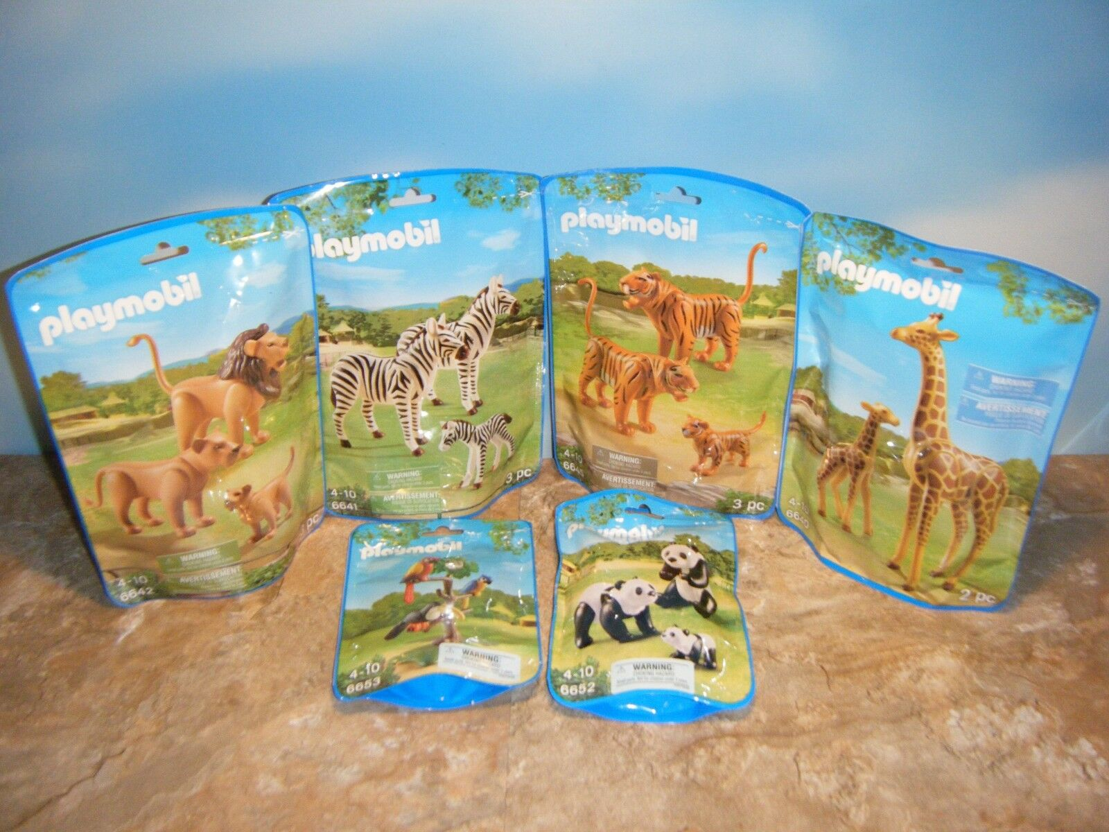Playmobil girafe 6640 Zebra 6641 Lion 6642 Tiger 6645 Panda 6652 TUCAN 6653 Lot