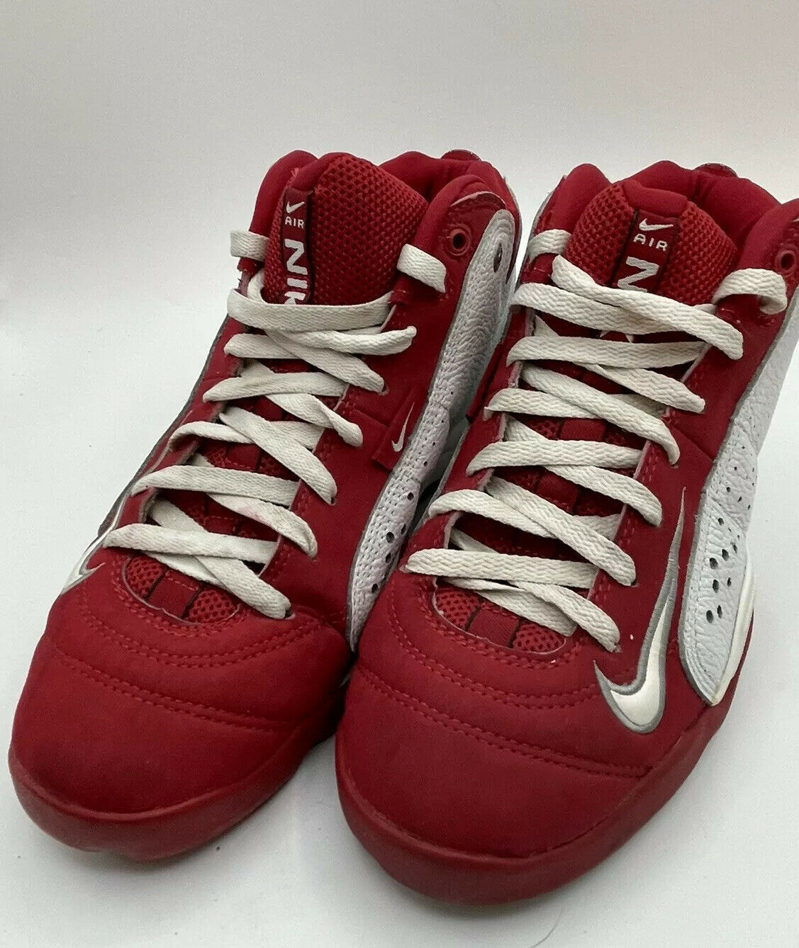 NIKE Air Team 2.0 Basketball Red White 90s Shoes … - image 1