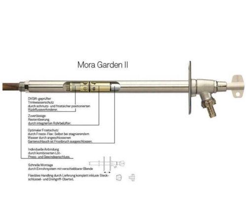 Mora Garden II frostsichere Aussenarmatur Außenzapfstelle Außenwandventil 2 DVGW