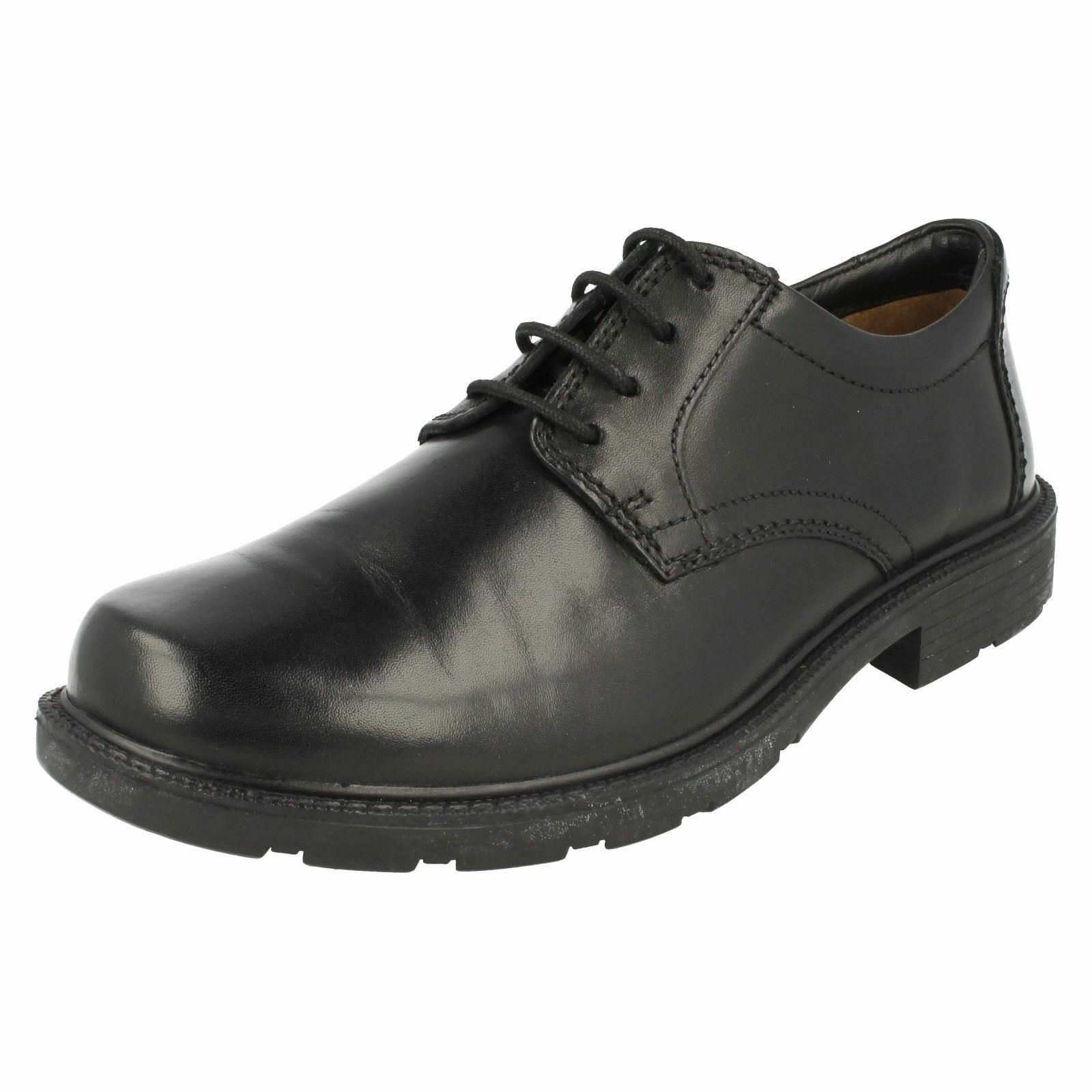 Mens Lair Watch G fitting black leather lace up shoes by Clarks