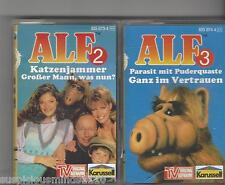 MC KASSETTEN SAMMLUNG ALF 2 + 3- TV ORIGINAL AUFNAHME 4 Geschichten  Karusell