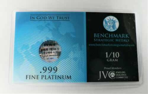 PLATINUM Pure .9995 PLATINUM 1//10 of a gram INVESTMENT BULLION BAR A1