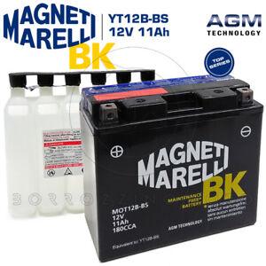 BATTERIA-MAGNETI-MARELLI-YT12B-BS-DUCATI-MONSTER-S4-R-996-2003-2004-2005-2006