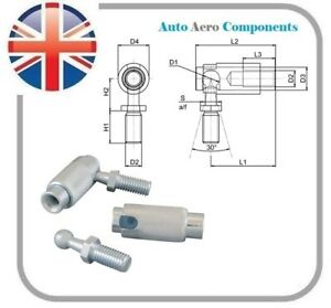 Quick Release Rod End Angle Joint/Ball Joint M5,M6,M8 & M10 - Zinc Plated Steel