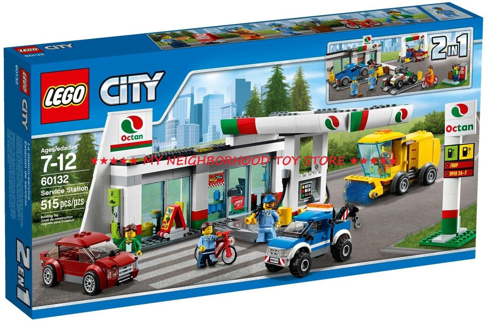 RETIrouge PRONTA CONSEGNA - LEGO 60132 CITY STAZIONE DI SERVIZIO SERVICE STATION