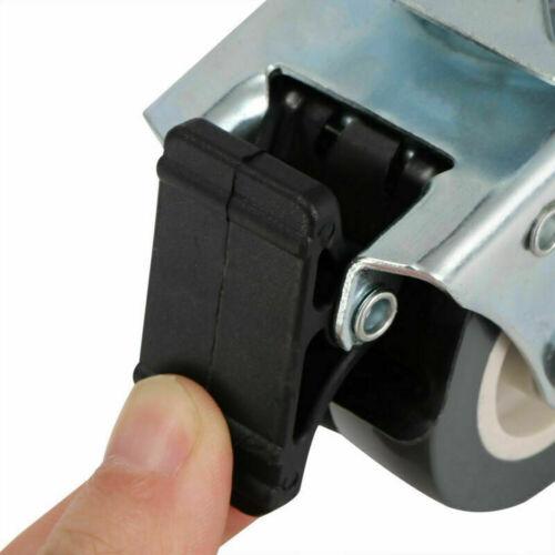 4 Stück Möbelrollen Lenkrollen Mit Bremse 50mm Schwerlastrollen Transportrollen