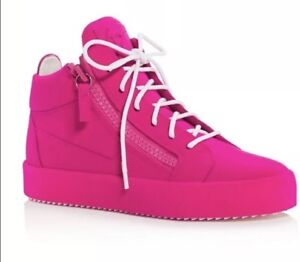 6796fb62c95d3 Giuseppe Zanotti High Top Sneaker Pink Lace Up Two Zipper Girls ...