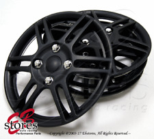 4pc Set 14 Inch Wheel Rim Skin Cover Hubcap Hub Caps 14 Matte Black Style004 Fits Mustang