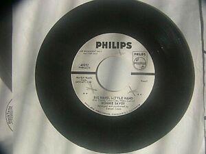 "Ronnie Savoy""Big Hand Little Hand&Fool""Rare Soul Promo 45 Philips 40032 vtg 1962"
