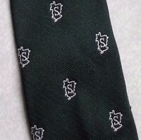 DARK GREEN CLUB ASSOCIATION TIE VINTAGE RETRO BY BRADSHAW OF SHERINGHAM 1960s