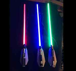 Wall Mounted Lightsaber Lamp : Blue Star Wars Lightsaber Wall Night Light Bed Room Decor Lamp Mount Kid Toy Art eBay