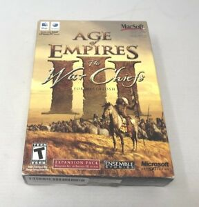 Details about Age of Empires III The War Chiefs Mac - EXCELLENT CON  -