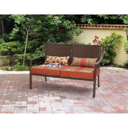 Swell Outdoor Bench Patio Loveseat Front Porch Garden Backyard Outside Benches Metal Andrewgaddart Wooden Chair Designs For Living Room Andrewgaddartcom