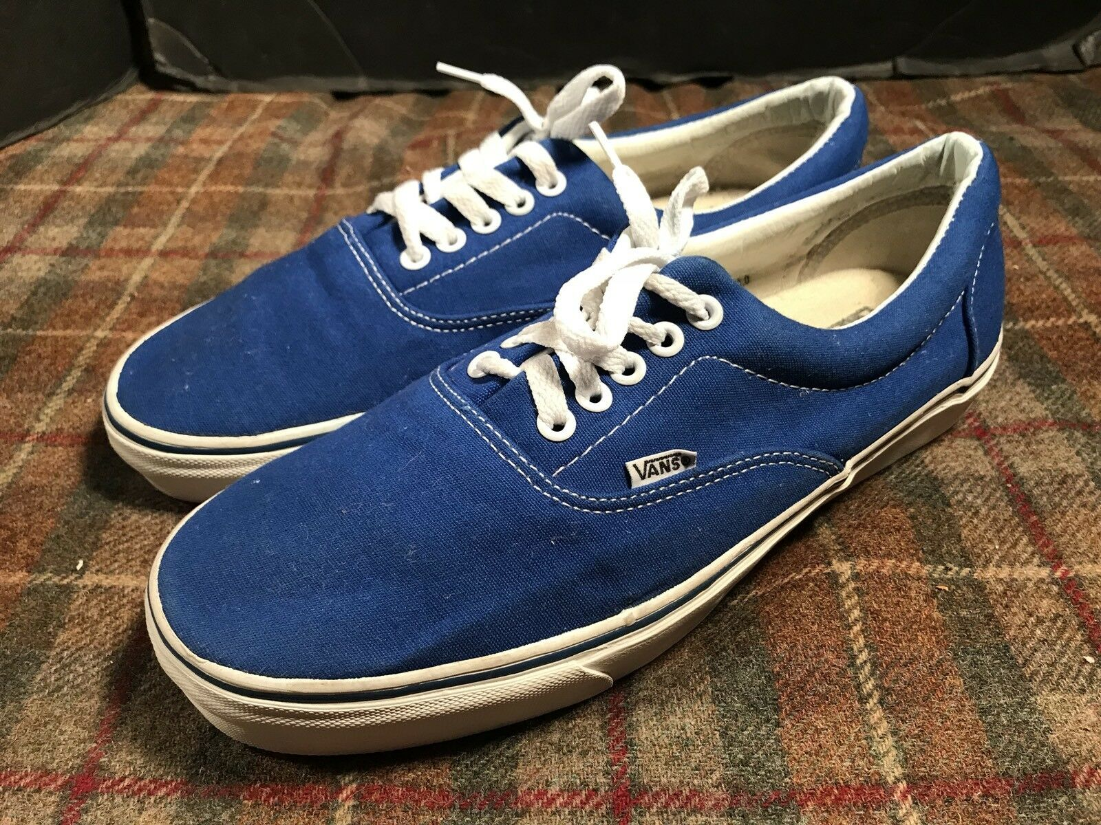 VANS USA Vintage Shoes Uomo Sz 11 USA VANS Made Blue Hardly Worn 380ec1