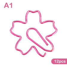 New Listing12pcslot Top Quality Plated Pink Paper Clips Sakura Paper Needle Bookm Dm