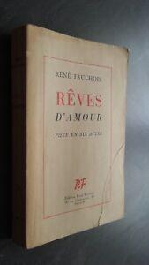 Rene Fauchois Sogni D'Amore Pezzo IN 6 Atti Guantone Per L'Autore 1948 Spilla