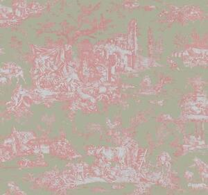 Wallpaper-Designer-French-Country-Toile-Pale-Pink-on-Pale-Green