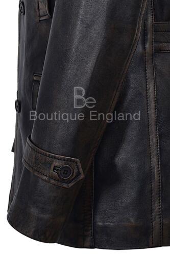 Men/'s Vintage Leather Jacket Black Vintage WW2 Inspired 100/% Real Leather Dr-Who