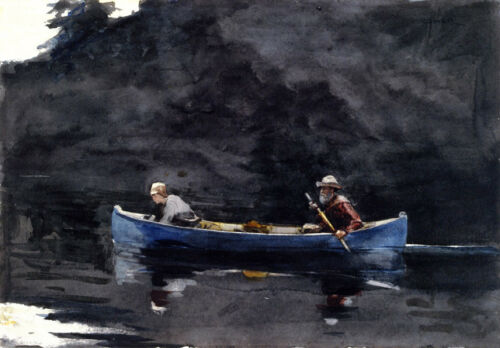 Scene in the Adirondacks  by Winslow Homer  Giclee Canvas Print Repro