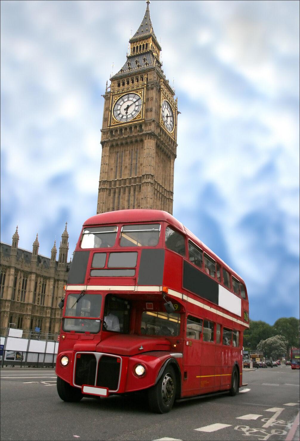 Wandaufkleber Aufkleber Deko  Londres Bus - Ref 1425 (16 Größe)