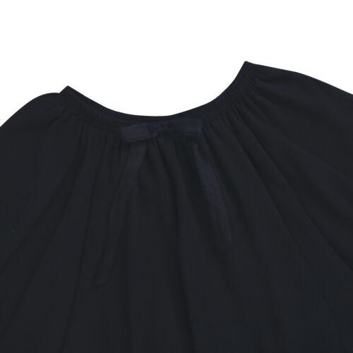 Girls Chiffon Dance Ballet Skirt Kids Children Party Princess Bow Ruffle Dresses