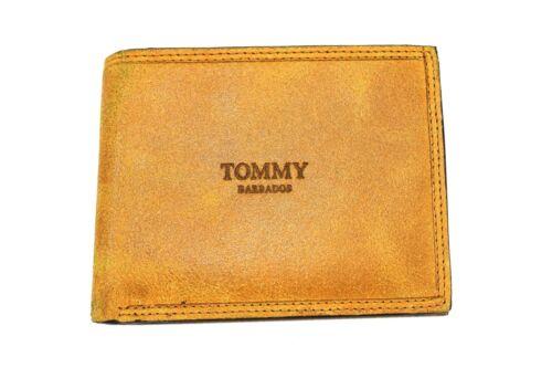 Portafogli uomo PELLE TOMMY BARBADOS VINTAGE con portamonete 9370.250 giallo